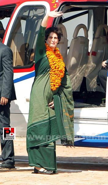 Congress star campaigner Priyanka Gandhi (16) by...