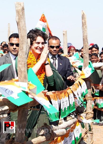 Congress star campaigner Priyanka Gandhi (5) by...