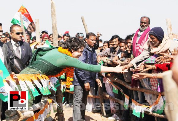 Congress star campaigner Priyanka Gandhi (8) by...