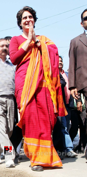 Congress star campaigner Priyanka Gandhi (7) by...