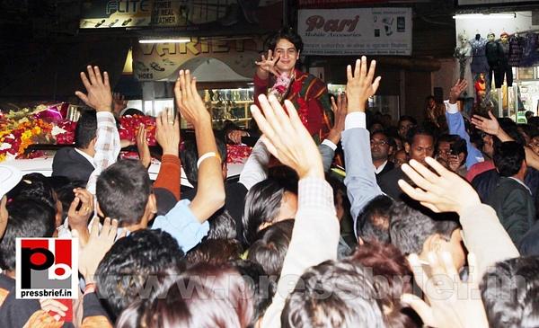 Congress star campaigner Priyanka Gandhi (6) by...