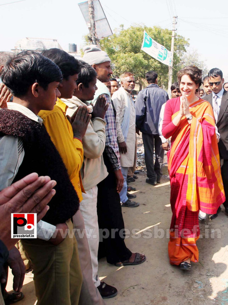 Congress star campaigner Priyanka Gandhi (27) by...