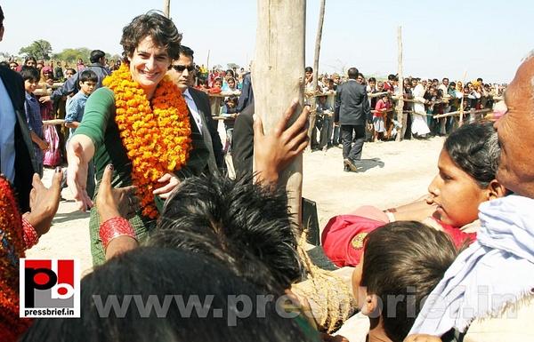 Congress star campaigner Priyanka Gandhi (2) by...