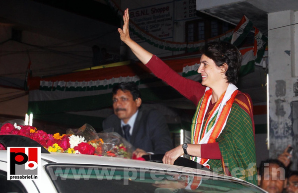 Congress star campaigner Priyanka Gandhi (1) by...