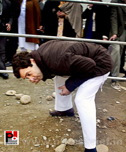Rahul Gandhi on a two-day visit to J&K (7) by Pressbrief...