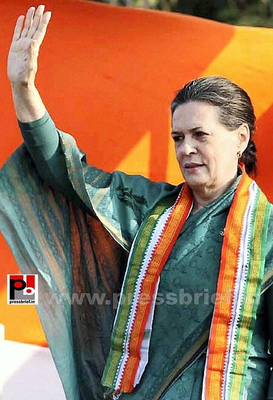 Sonia Gandhi campaigns in Chhattisgarh (1)