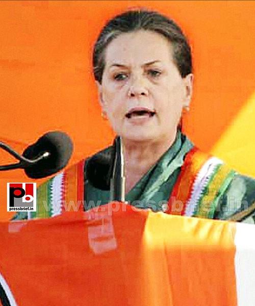 Sonia Gandhi campaigns in Chhattisgarh (3) by Pressbrief...