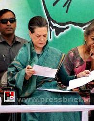 Sonia Gandhi campaigns in Chhattisgarh