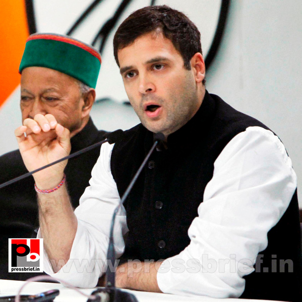 Rahul Gandhi talks to media after CMs meet (1) by...