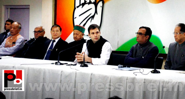 Rahul Gandhi talks to media after CMs meet (2) by...