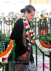 Sonia Gandhi at Congress' 128th foundation day function