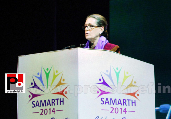 Sonia Gandhi at SAMARTH function (3) by Pressbrief In