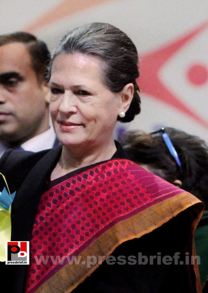 Sonia Gandhi at SAMARTH function by Pressbrief In