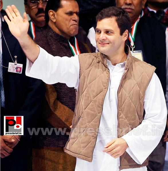 Rahul Gandhi at AICC session in New Delhi by Pressbrief...