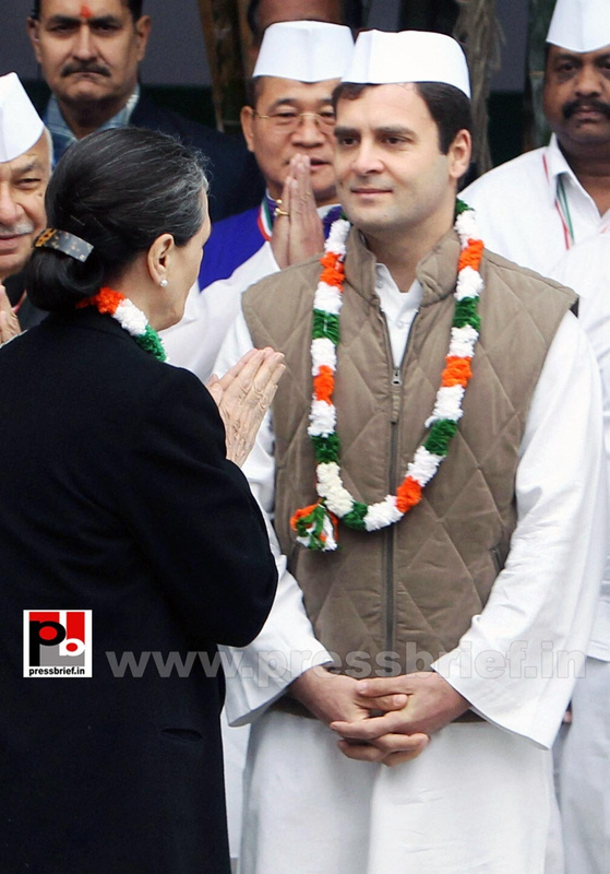 Rahul Gandhi at AICC session in New Delhi (8)