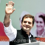 Rahul Gandhi at AICC session in New Delhi