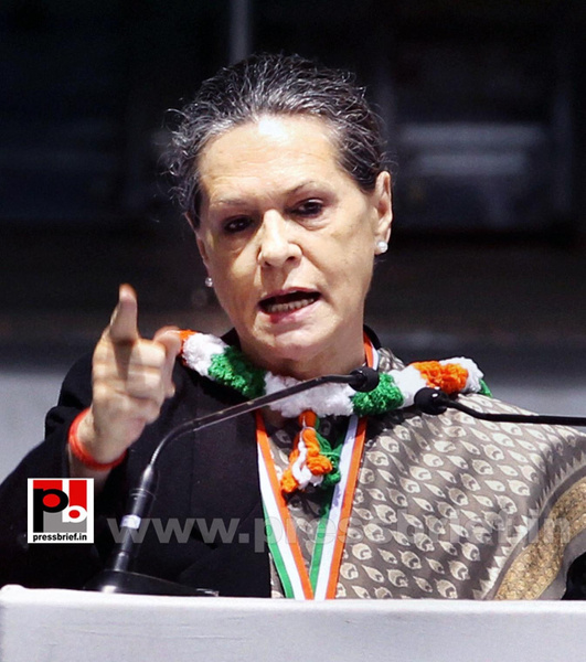 Sonia Gandhi at AICC session in New Delhi (1) by...
