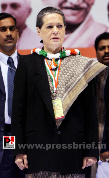 Sonia Gandhi at AICC session in New Delhi (2) by...