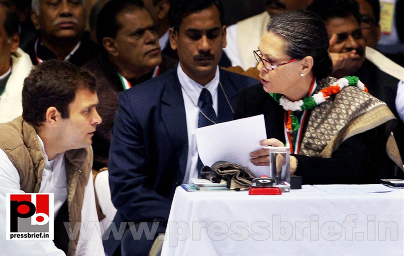 Sonia Gandhi at AICC session in New Delhi (3)