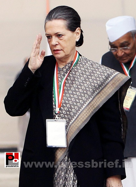 Sonia Gandhi at AICC session in New Delhi (4) by...