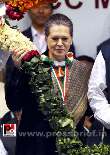 Sonia Gandhi at AICC session in New Delhi (5) by...