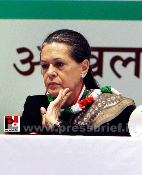Sonia Gandhi at AICC session in New Delhi (6) by...