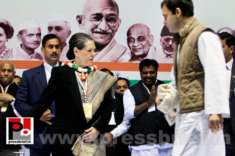 Sonia Gandhi at AICC session in New Delhi (8)