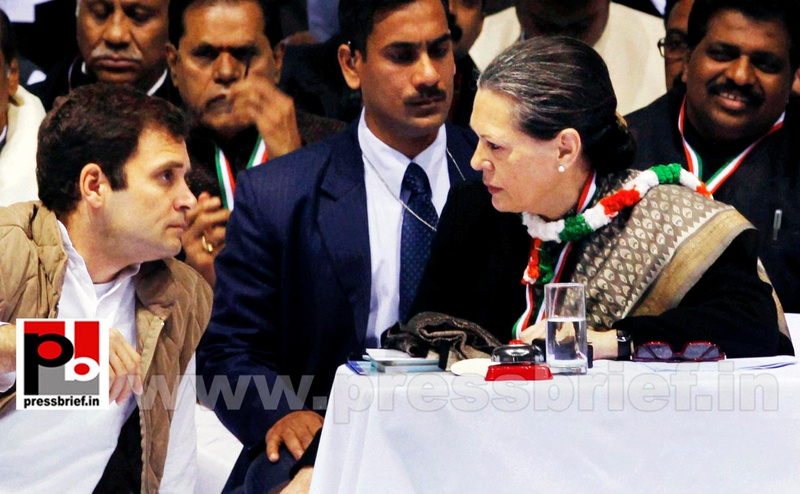 Sonia Gandhi at AICC session in New Delhi (9)