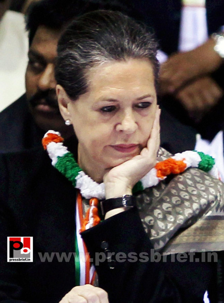 Sonia Gandhi at AICC session in New Delhi (12) by...