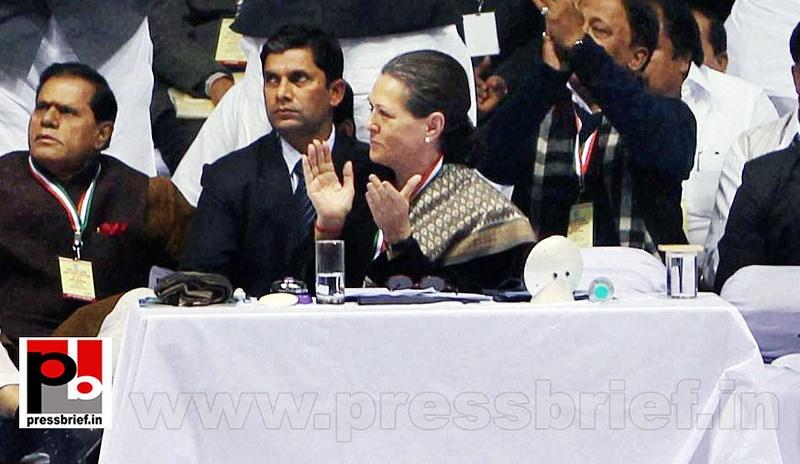 Sonia Gandhi at AICC session in New Delhi (13)