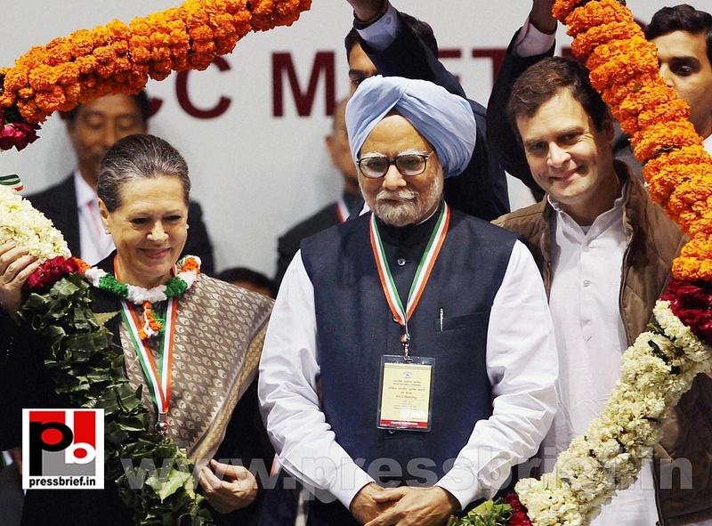 Sonia Gandhi at AICC session in New Delhi (15)