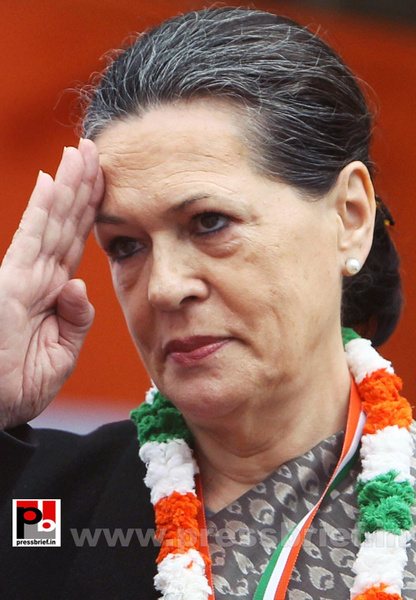 Sonia Gandhi at AICC session in New Delhi (16) by...