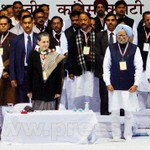 Sonia Gandhi at AICC session in New Delhi