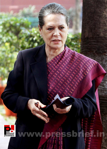 Sonia Gandhi attend campaign committee meeting (1) by...