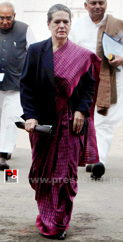 Sonia Gandhi attend campaign committee meeting (2)