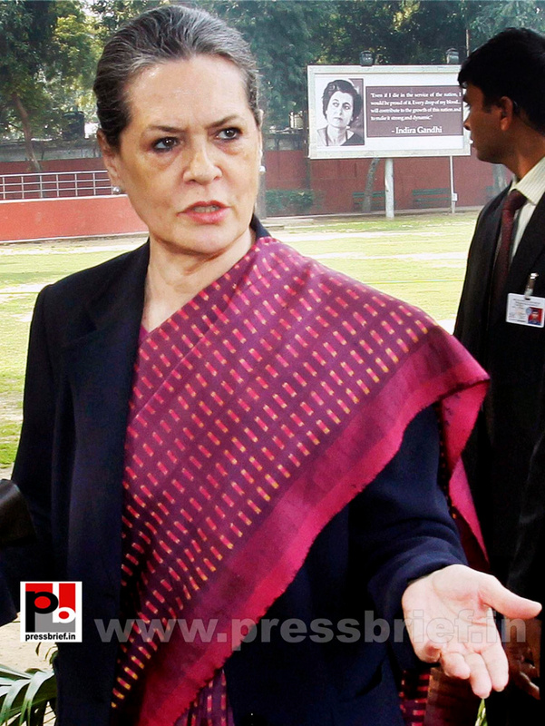 Sonia Gandhi attend campaign committee meeting (4)