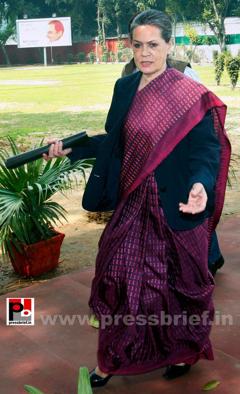Sonia Gandhi attend campaign committee meeting (5)