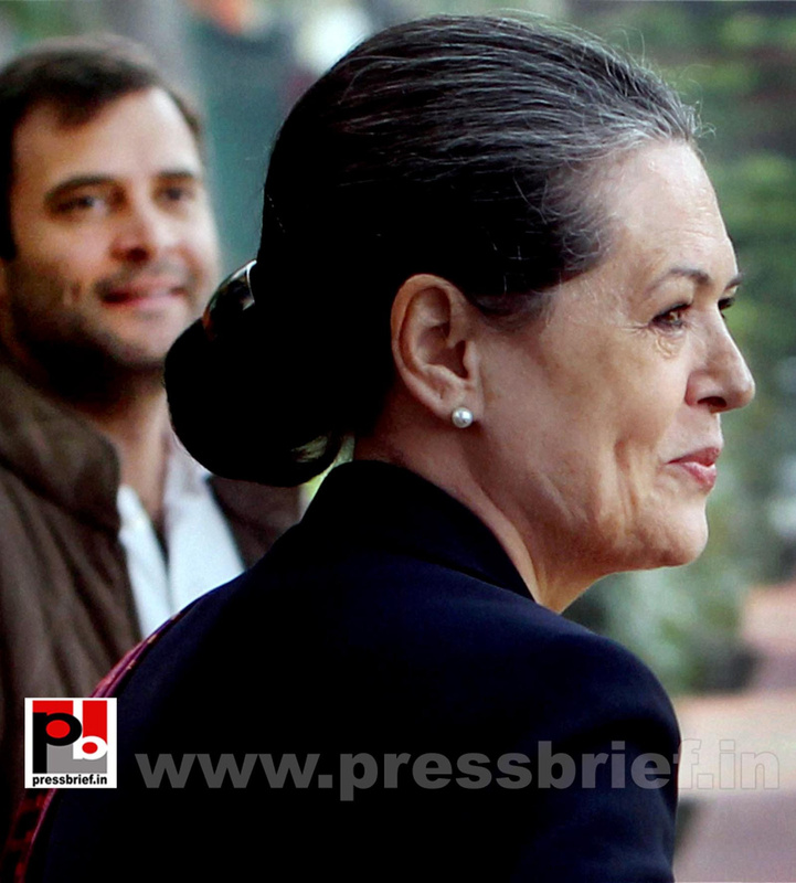 Sonia Gandhi attend campaign committee meeting (6)