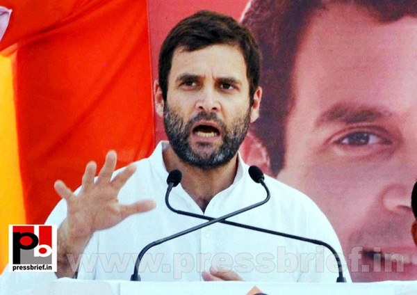 Rahul Gandhi at rally in Aurangabad (2) by Pressbrief In