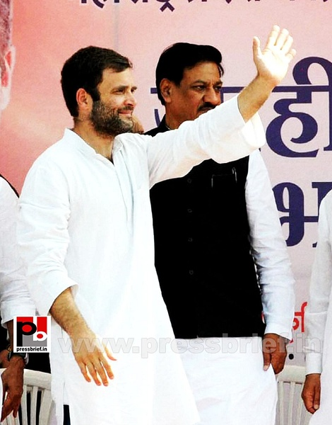 Rahul Gandhi at rally in Aurangabad (4) by Pressbrief In