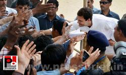 Rahul Gandhi addresses rally at Rajasthan