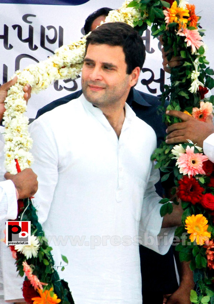 Rahul Gandhi at a Congress rally in Gujarat (3) by...