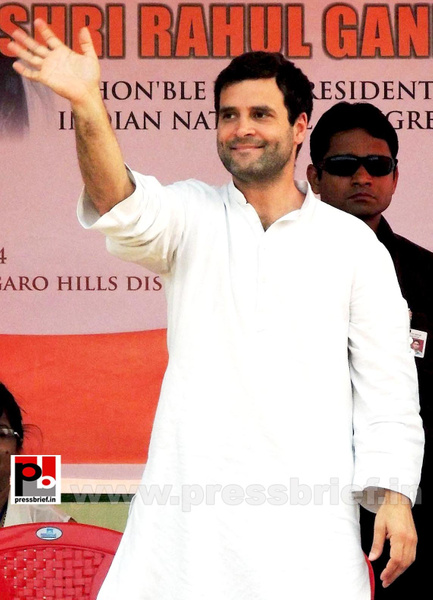 Rahul Gandhi at Meghalaya (3) by Pressbrief In