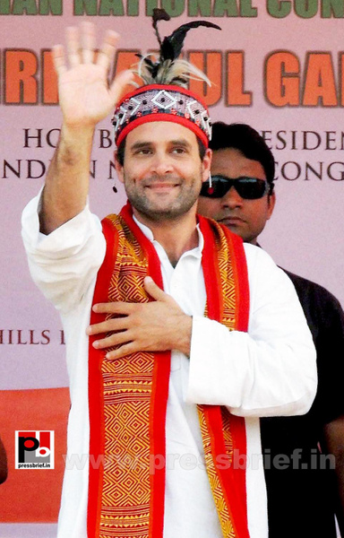 Rahul Gandhi at Meghalaya (4) by Pressbrief In