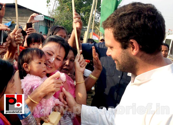 Rahul Gandhi at Manipur by Pressbrief In