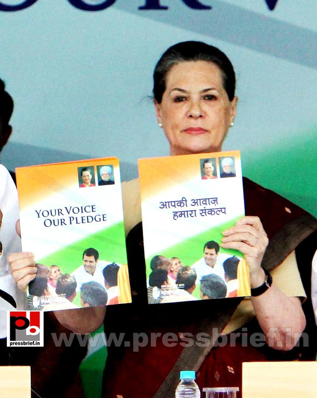 Sonia Gandhi at Congress manifesto release (3)