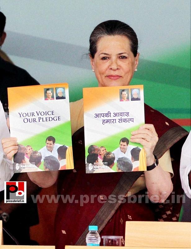 Sonia Gandhi at Congress manifesto release (4)