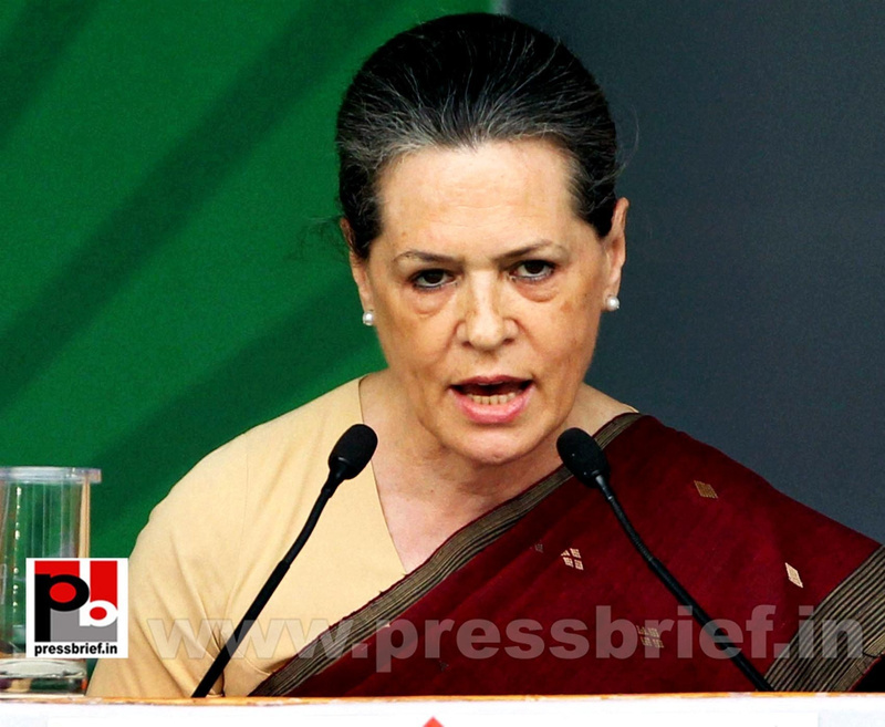 Sonia Gandhi at Congress manifesto release (5)