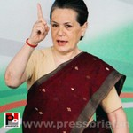 Sonia Gandhi at Congress manifesto release