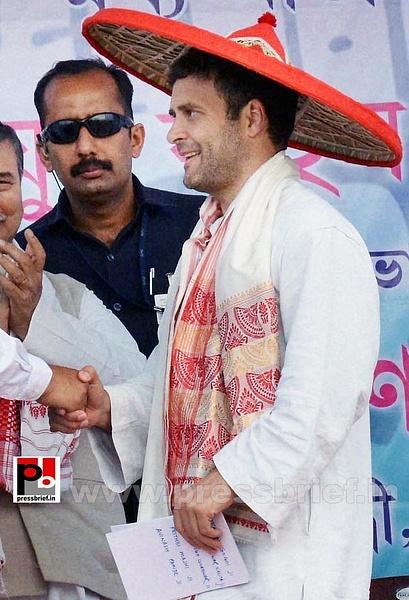 Rahul Gandhi at Sonitpur, Assam (8) by Pressbrief In